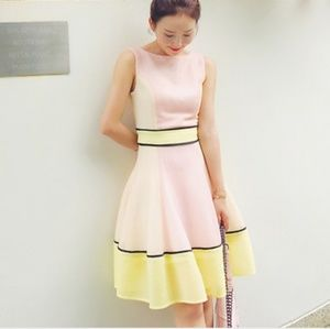 Be Queen Story  Yellow White & Pink Dress size S